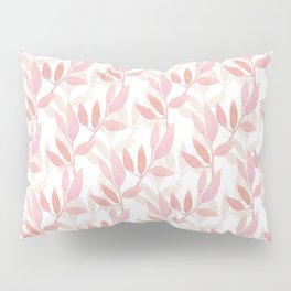 Watercolor pnk botanical seamless pattern Pillow Sham