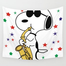 snoopy jazz Wall Tapestry