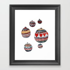 Baubles Framed Art Print