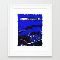 mini cooper Framed Art Prints featuring Mini Cooper 2 by elkart51