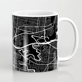 Street MAP Melbourne // Black&White Coffee Mug