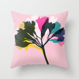 alstroemeria 5 Throw Pillow