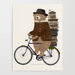 an educated bear Poster