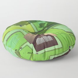 Rice paddy field Floor Pillow