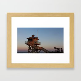 Guard Tower At Dusk Framed Art Print