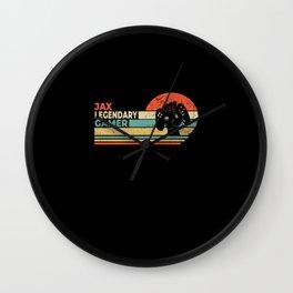 Jax Legendary Gamer Personalized Gift Wall Clock