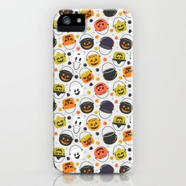 Halloween Candy Buckets iPhone Case