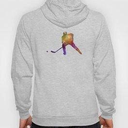 Hockey skater in watercolor Hoody