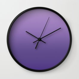 Ultra Violet Gradient Pattern | Pantone Trendy Color of the year 2018 Wall Clock