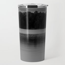 Black and White Sunset on Little Loon Travel Mug