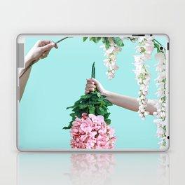 1992 Floral Episodes (Aqua) Laptop & iPad Skin