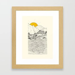 The land and the sea Framed Art Print