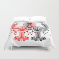 lobster Duvet Covers featuring Lobster by Patrick Seymour