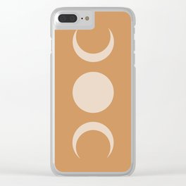 Moon Minimalism - Desert Sand Clear iPhone Case