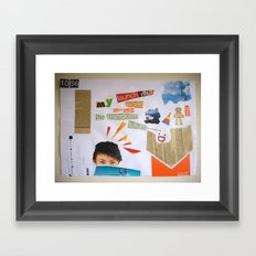 Draw your days : day#2 Launch your world Framed Art Print