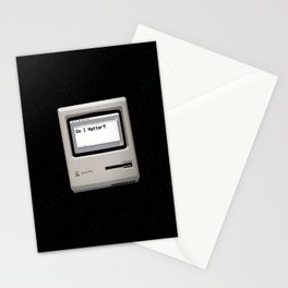 midnight introspection Stationery Cards