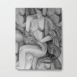 Lady Unknown in grey Metal Print