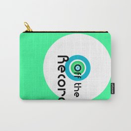 Off the Record - white Carry-All Pouch