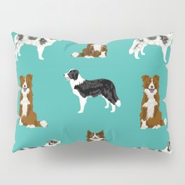 Border Collie mixed coats dog breed pattern gifts collies dog lover Pillow Sham