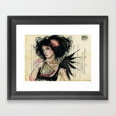 The French Fan Framed Art Print