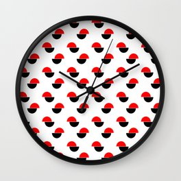 Wild polka dot 2- Colors of anarchy Wall Clock
