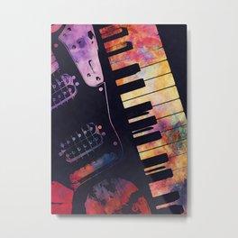 piano and guitar art #piano #guitar #music Metal Print