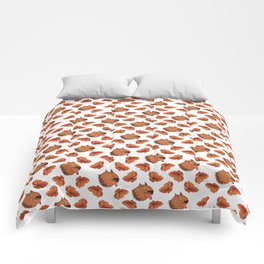 Pups and poppies Comforters