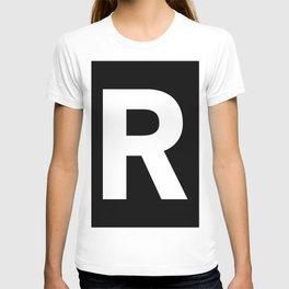Letter R (White & Black) T-shirt