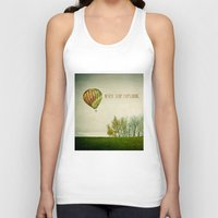 never stop exploring Tank Tops featuring Never Stop Exploring ( Air Balloon) by Sandra Arduini