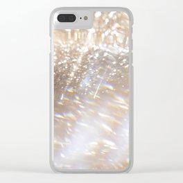 Gold Glitter Magic Clear iPhone Case
