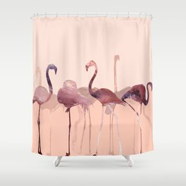 Summer Flamingos Shower Curtain