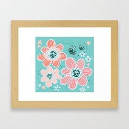 Buzzing Around the Garden Framed Art Print