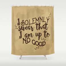 Marauder's Map - I solemnly swear that I am up to no good Shower Curtain