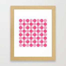 the pink dots Framed Art Print