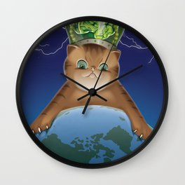 Fluffy Domination Wall Clock