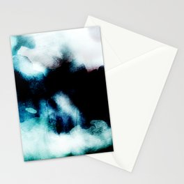 UNBORN - Stylish cobalt watercolor mixture Stationery Cards