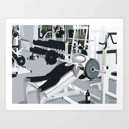 Corky @ the Gym.  Art Print