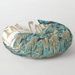 Peacock Jewels Floor Pillow