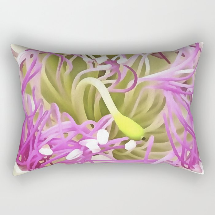 Caper Flower Blossom Rectangular Pillow