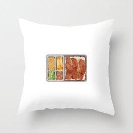 Japanese Beef Bento | 牛肉便当 Throw Pillow