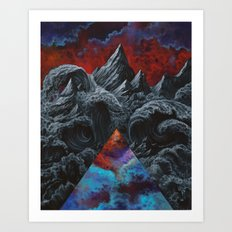 It was the internal landscape that contained the highest hurtles Art Print