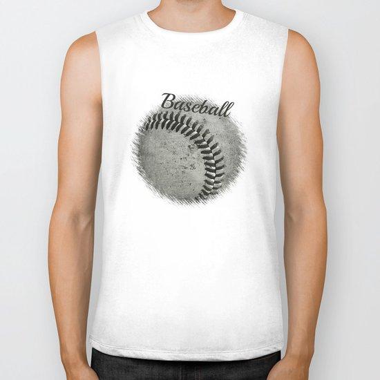 Baseball Biker Tank