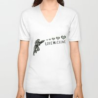 master chief V-neck T-shirts featuring Love Machine - Master Chief - Halo by Canis Picta
