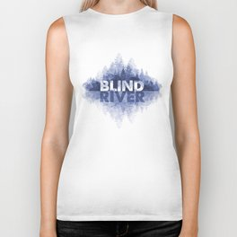Blind River Trees (blue) Biker Tank