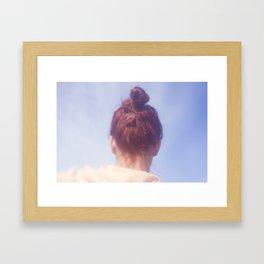 Girl With Red Hair Framed Art Print