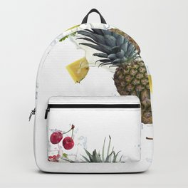 Fresh fruits and berries  with water splash Backpack