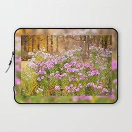Pink Aster flowering plants Laptop Sleeve