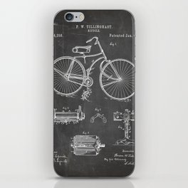 Bicycle Patent - Cyclling Art - Black Chalkboard iPhone Skin