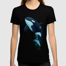 """""""The Matriarch"""" by Amber Marine ~ Orca / Killer Whale (J2 Granny) Watercolor Art, (Copyright 2016) T-shirt"""