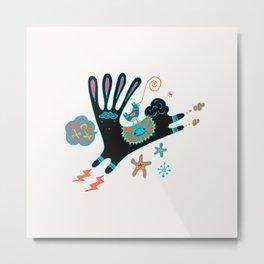 Black Rabbit Metal Print